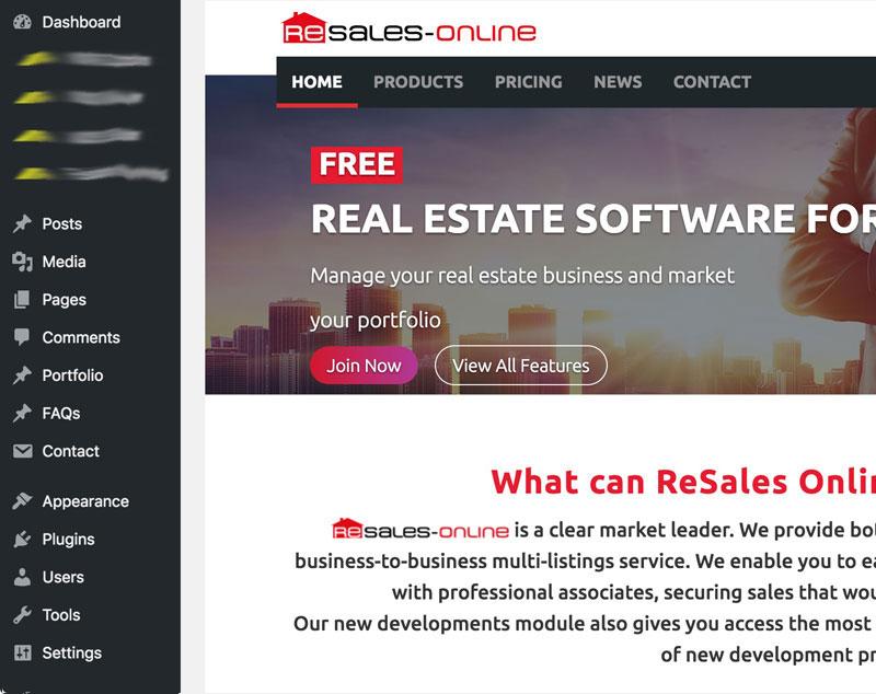 resales online wordpress plugin test website for wiidoo media marketing marbella